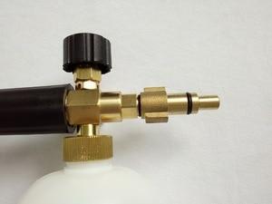 Image 2 - car washer snow bubble foam gun with Lavor Elitech Champion Sterwins connector 100% copper washer foam generator foam sprayer