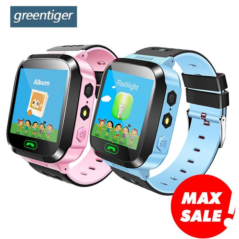 Greentiger Q02 niños reloj de la Cámara de pantalla táctil llamada SOS LBS de localización de niños bebé reloj inteligente
