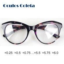 af5fb5bf1951d Óculos de leitura de acetato italiano para as mulheres 0.25 0.5 0.75 3 2 1  1.25 1.5 1.75 2.25 2.5 2.75 3.25 3.5 3.75 5 4 4.25 4.