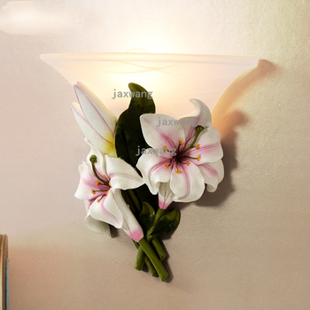 Современный настенный светильник светодиодный светильник Сказочные цветы для скандинавского домашнего декора свадебное украшение настен...