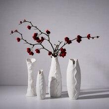 Simple modern white creative vase art countertop living room ceramic home decoration jewelry