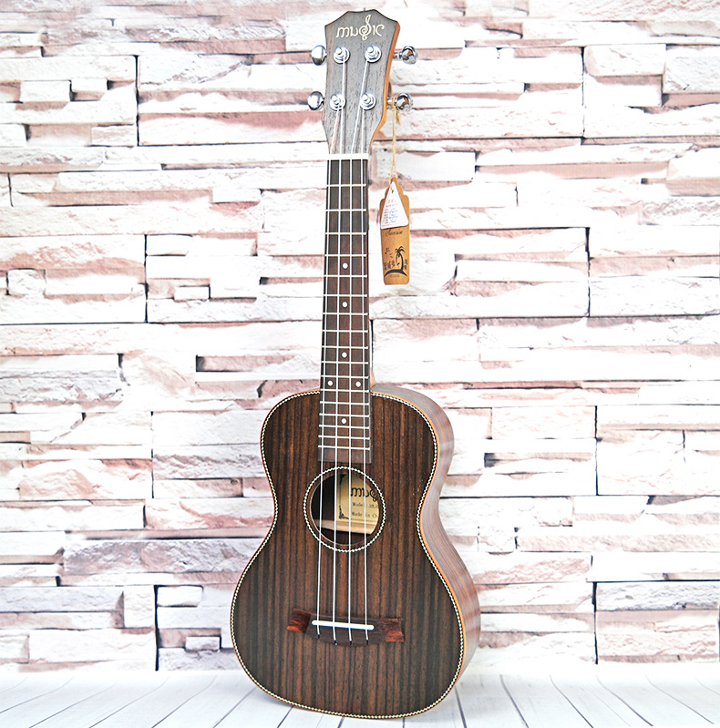 Young Ukulele Concert Acoustic 23inch roseWood Original Wood Color with picks and string