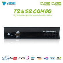 DVB T2 + DVB S2 récepteur de télévision par Satellite terrestre numérique Combo HD 1080p X1 TV BOX Support YouTube CCCAM IP TV DVB T2 S2 BOX(China)