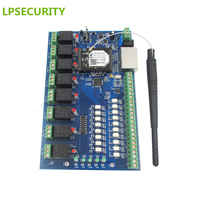Remote Control AccessWifi Board For Door Gate Light Ethernet WIFI Controlled Relay Board Controller With 8