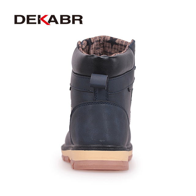 DEKABR Brand Hot Newest Keep Warm Winter Boots Men High Quality pu Leather Wear Resisting Casual Shoes Working Fashion Men Boots 2