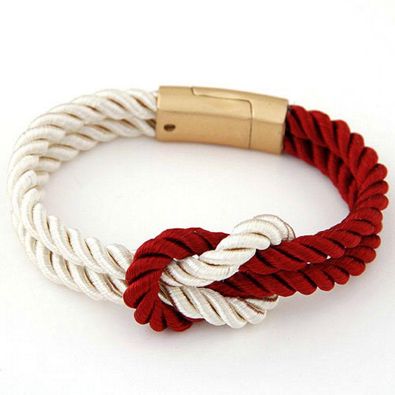 Vruće trendi modni pleteni konop lanac s magnetskom kopčom luk - Modni nakit - Foto 6
