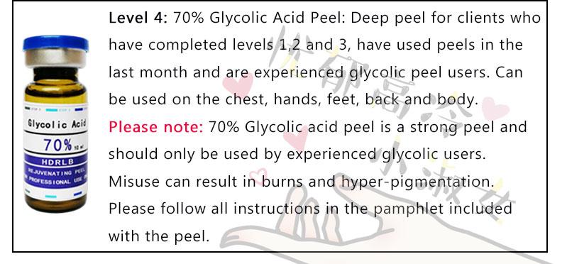 Vendas loucas ácido glicólico pele casca 30%