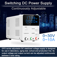 Mini Digital Switching DC Power Supply 30V 10A Voltage Regulator Power Source 0.01V 0.001A Continuous Adjustable DC Power Supply