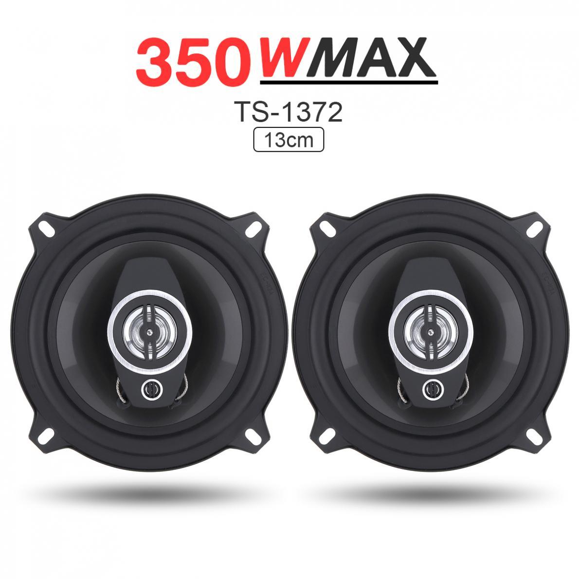 2 piezas 5 pulgadas 13 cm 350 W de doble cono bocina Coaxial coche vehículo Auto Audio música estéreo Hifi altavoces instalación no destructiva