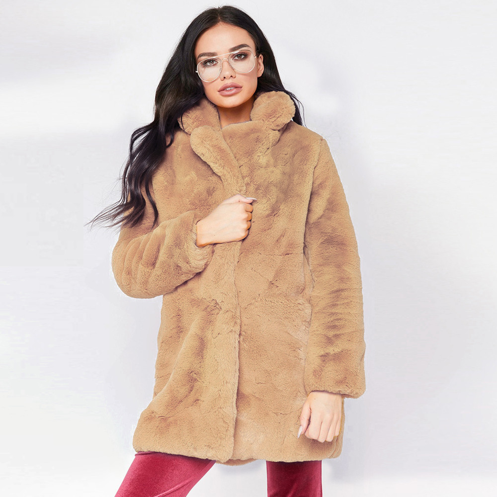 23f0cfe5476bd FeiTong Parka chaqueta de invierno para mujer abrigo largo de piel  sintética para mujer chaqueta de invierno Parka abrigo moda 2018 en Parkas  de La ropa de ...