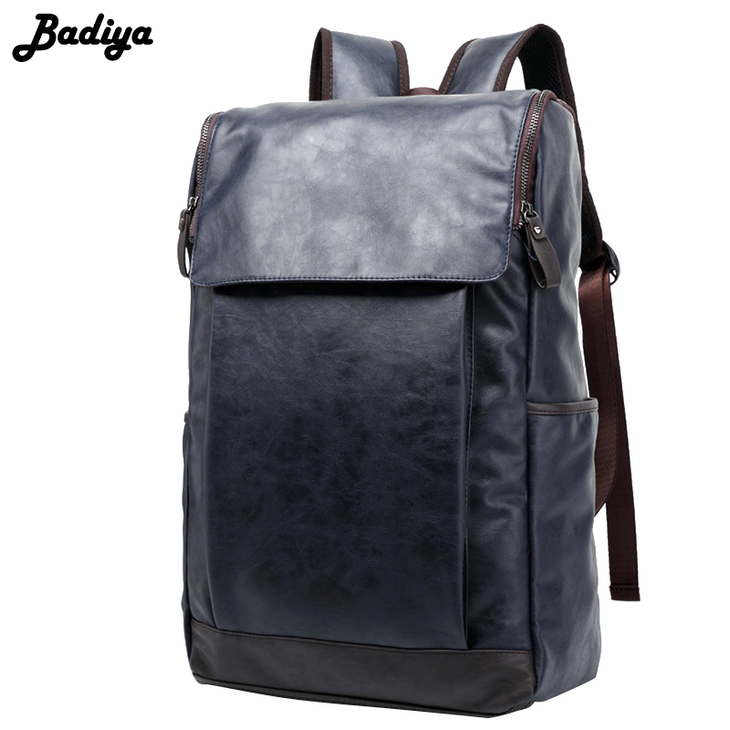 17 Inch Laptop Men's Backpack PU Leather School Bag Casual Buiness Backpacks Male Large Capacity Satchels men backpack student school bag for teenager boys large capacity trip backpacks laptop backpack for 15 inches mochila masculina