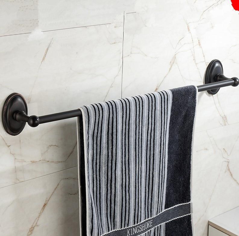 Bathroom Accessories,60cm Sainless steel Material Romantic Black Finish Single Towel Bar&Towel Rack/Unique Beief Style