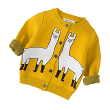 Mother and Kids Matching Llama Sweaters