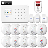 KERUI G18 Беспроводной дыма Системы противопожарная защита Газа SMS GSM сигнализация Системы защиты безопасности двери Sesor сигнализации