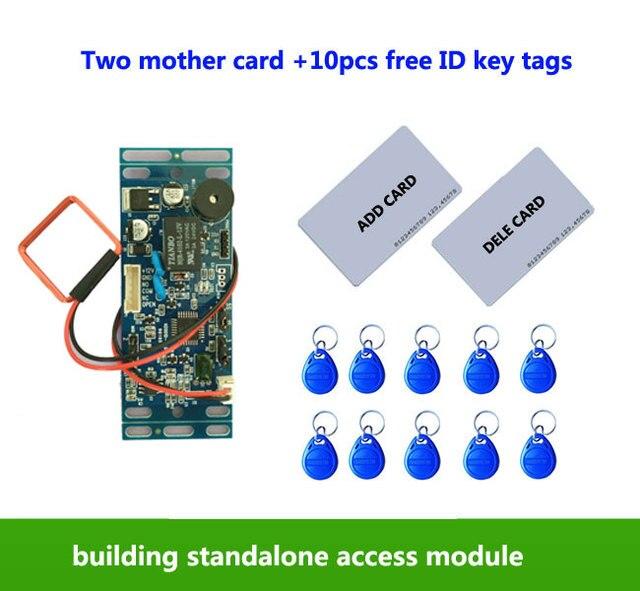 RFID EM/ID встроенный контроль доступа к двери, домофон контроля доступа, лифт управления, с 2 шт мать карты, 10 шт em брелок, мин: 1 шт