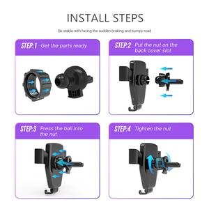 Image 5 - Support de montage pour téléphone dans le chargeur de voiture 360 pas de support de téléphone magnétique pour Iphone Samsung S10 Plus Xiaomi support de téléphone évent