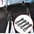 1 Pair Car Back Seat Encosto de Cabeça Cabide Titular Ganchos Para Mercearia Saco Da Bolsa de Pano Populares