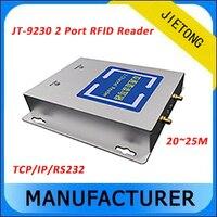 RS232/RJ45 Interface de Longo Alcance 2 Canais UHF Leitor De RFID para Gestão Anmail/Gestão de Pessoal