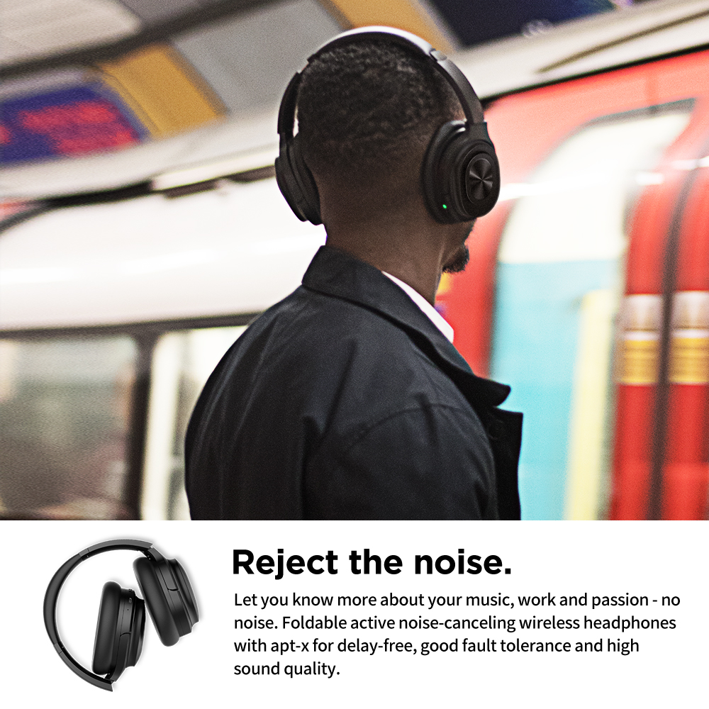 Image 5 - Cowin SE7MAX Active Noise Canceling headphone Bluetooth Wireless headphones aptx Deep Bass Headset 30H Play and Game Time-in Bluetooth Earphones & Headphones from Consumer Electronics