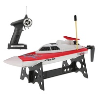 RC Boats Toys 14km/h High Speed Radio Control Electronic RC Boat FT008 27MHZ Remote Control Toys Best Xmas Gift for Children