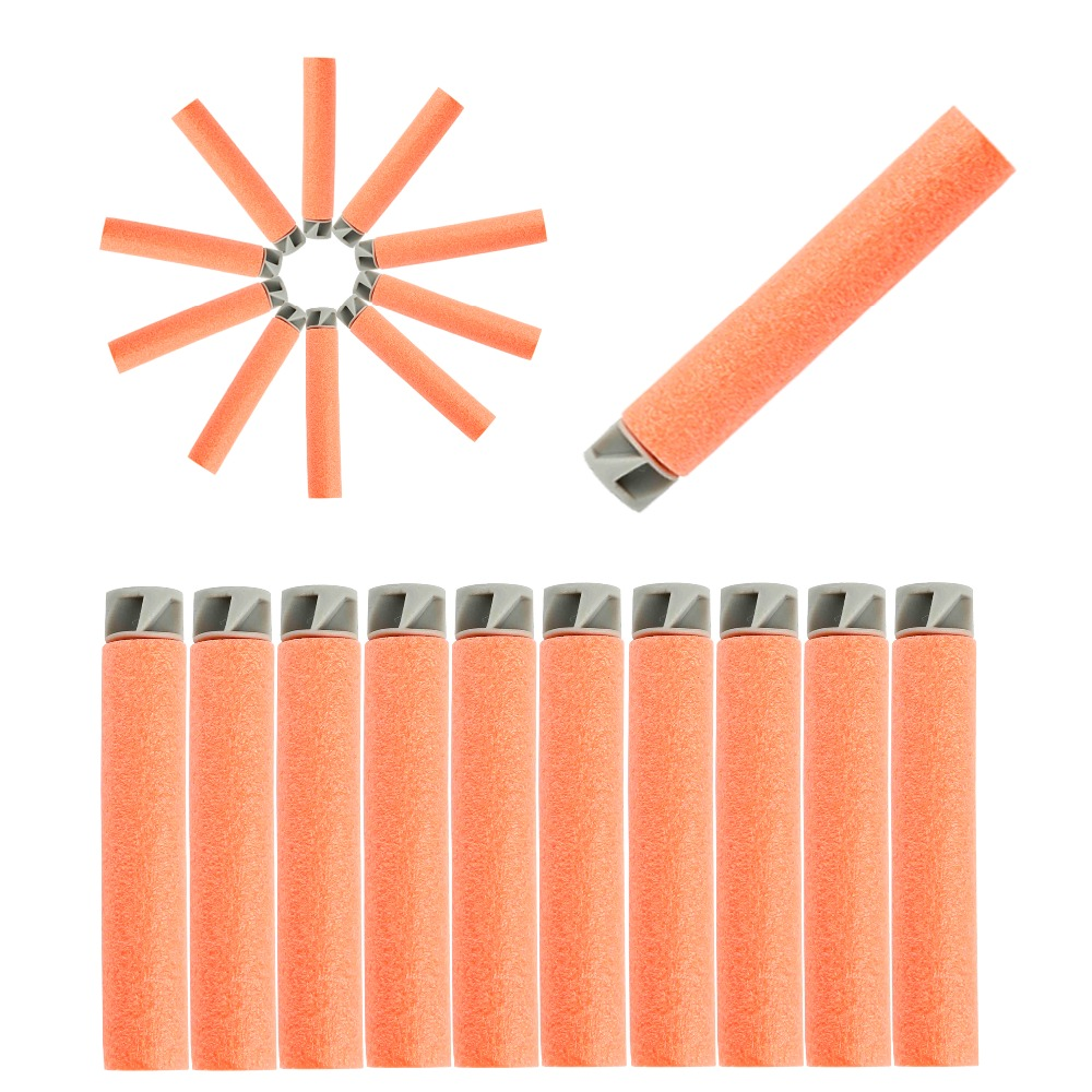 50pcs Soft Bullet Flat Soft Head Foam Bullets For Nerf N-strike Elite Series Orange Hot Sale