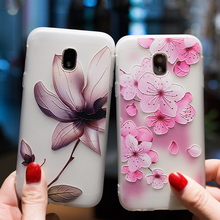 Case For Samsung Galaxy J3 J5 J7 2017 2016 2018 J2 Prime Relief TPU Flower Matte Cover Pro J4 J6 J8 EU