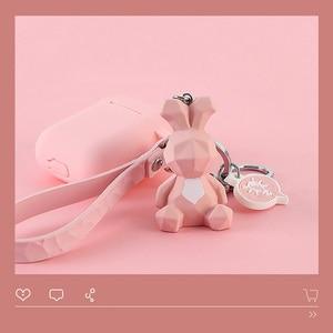 Image 4 - Hoạt hình Hình Học Động Vật Silicone Rung Phụ Kiện Tai Nghe Bluetooth Chụp Tai Bảo Vệ Mèo Móc Khóa