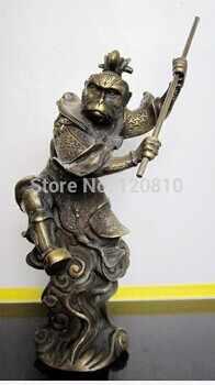 SCY thần thoại Trung Quốc <Journey to the West bức tượng đồng Khỉ vua * no 2