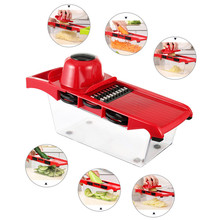 Creative Manual Vegetable Cutter Planer Kitchen Multifunction Potato Carrot Interchangeable Stainless Steel Slicers