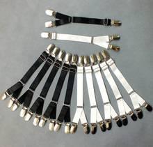 2016 Nueva Moda Ajustable Metal Duckbill Clip Hebillas Ligas Y Tipo Elastic Leg Garter Correas Cinturón Clips para Muslo medias