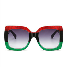 ASUOP 2019 new big box fashion ladies sunglasses classic luxury brand design mens driving glasses square color UV400 goggles