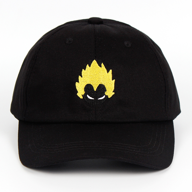 2bc75dacb5caf 2018 Brand Dragon Ball New Cotton Dad Hat Explosion head Youth Letter Print  Unisex Women Men Hats Baseball Cap Snapback