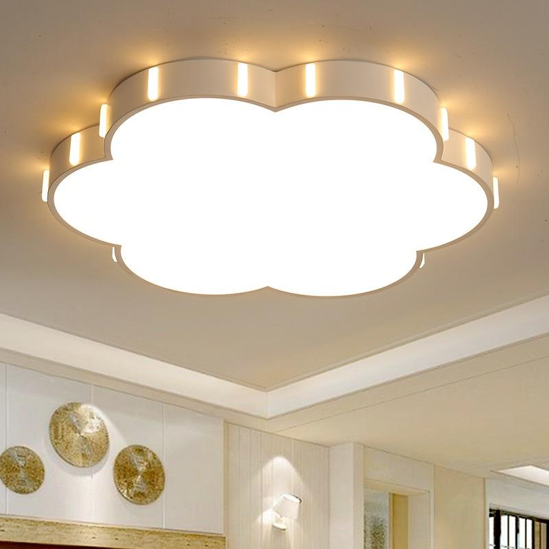 Lustre led Dia42/52 cm lustre led moderne pour chambre d'enfants candelabro blanc finition plafond lustre luminaires