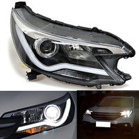 High Quality LED Guide Light Bar Headlights Xenon Fit For Honda CR V 2012 2014