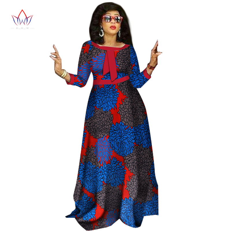 2017 afrikanske kjoler til damer Mote Design dashiki kvinner bazin - Nasjonale klær - Bilde 4