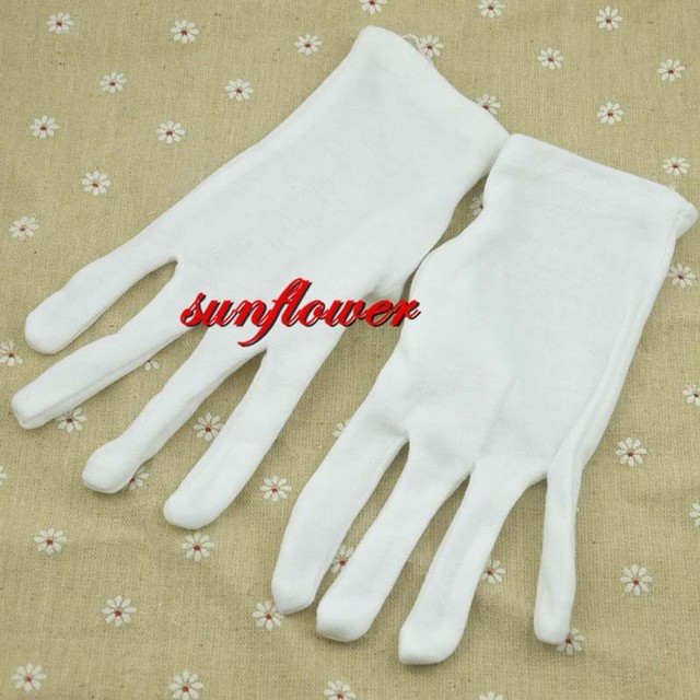 a4fafa0a24 Unisex Kobiety Mężczyźni Wrist Długość Białe Rękawiczki Dla Balu Costume  Taniec Pracy Party Dress Dekoracje Halloween