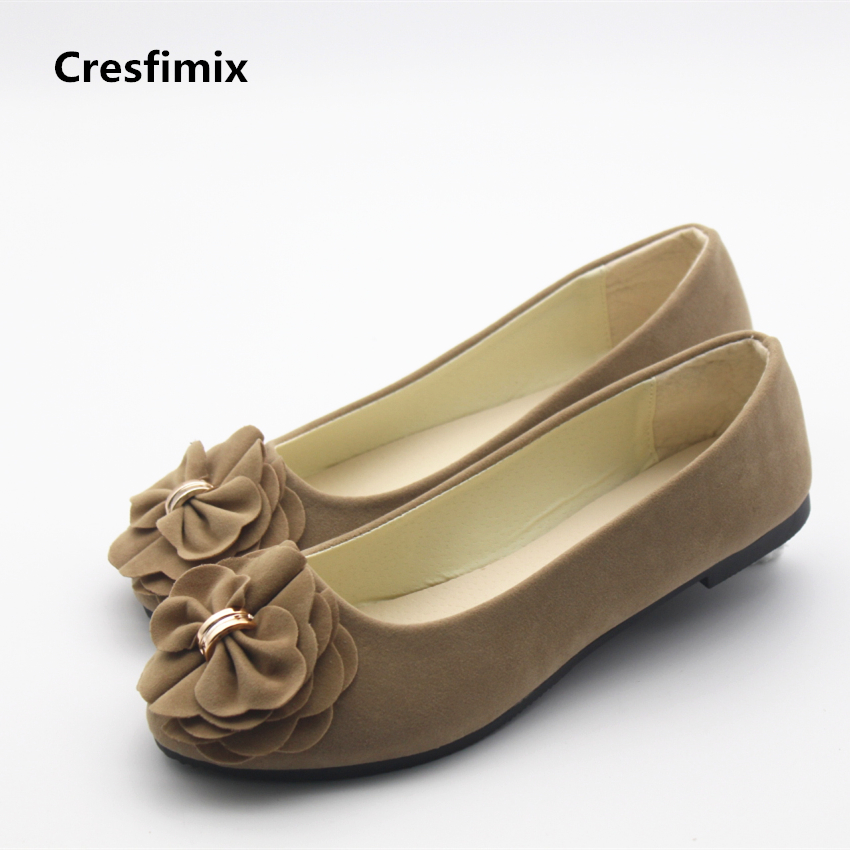 Cresfimix sapatos femininos women casual floral flat shoes lady cute and comfortable slip on flats female spring & summer shoes cresfimix sapatos femininos women casual soft pu leather pointed toe flat shoes lady cute summer slip on flats soft cool shoes