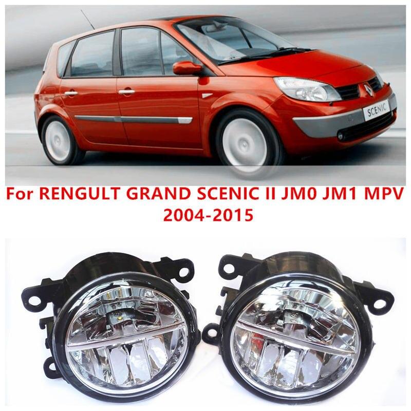 ФОТО For RENGULT GRAND SCENIC II JM0 JM1 MPV  2004-2015 10W Fog Light LED DRL Daytime Running Lights Car Styling lamps