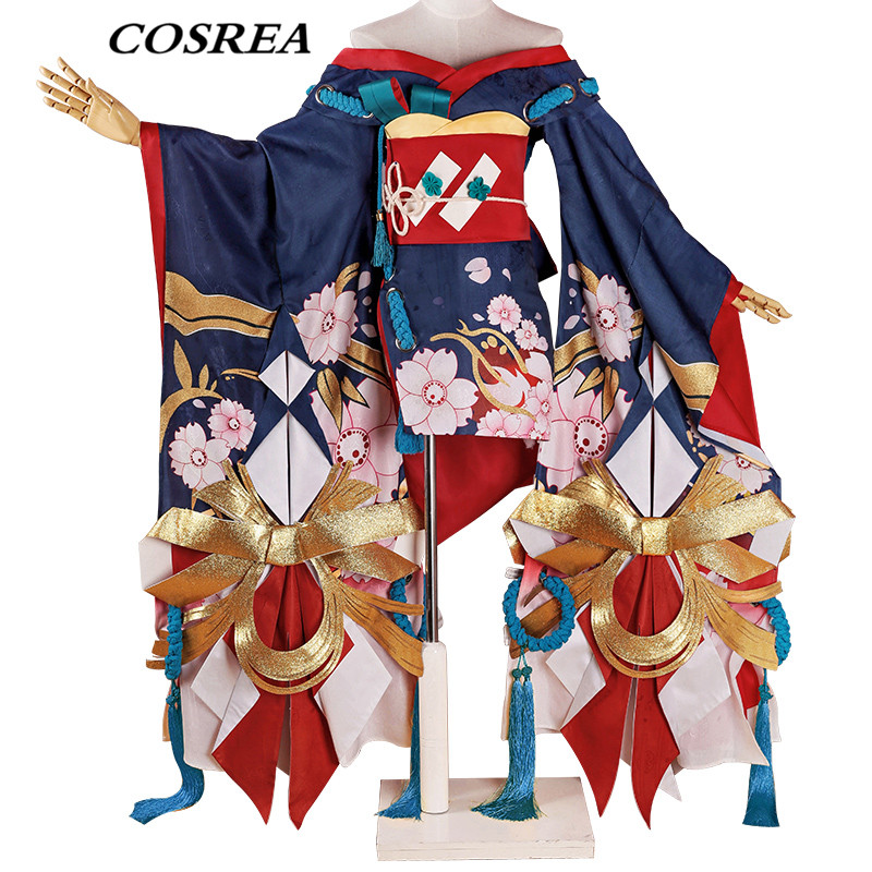 COSREA Hot Game Onmyoji Cosplay Costume Demon Knife Girl SSR Kimono Dress Costumes Halloween Carnival Party For Adult Woman