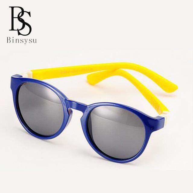 Silikon Polarisierte Kinder Sonnenbrille Runde Sonnenbrille Anti - Uv Sonnenbrille , Orange