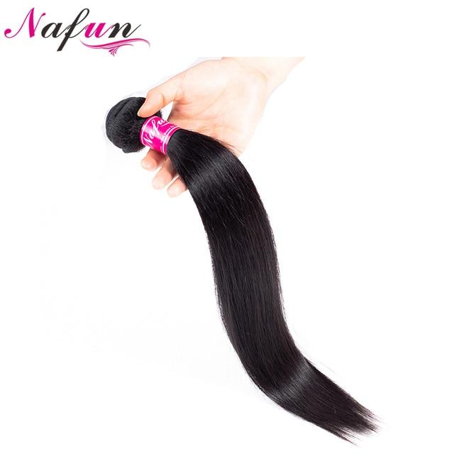 NAFUN שיער ברזילאי ישר שיער חבילות 8-26 אינץ שיער טבעי חבילות ללא רמי כפול ערב טבעי צבע שיער הרחבות