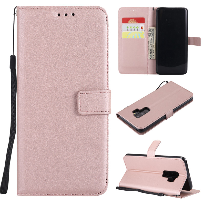 Leather Phone Case For Samsung Galaxy S9 S8 Plus S6 S7 Edge S5 S4 S3 Mini Grand Prime Note 9 8 5 Flip Wallet Card Holder Cover