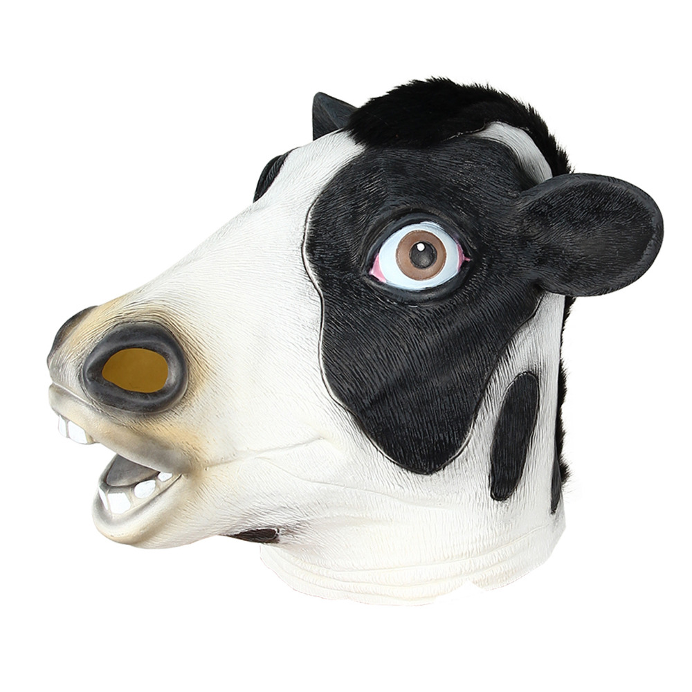 Novelty & Gag Toys Halloween Mask Christmas Dance Cow Modeling Mask Party Mask Game Funny Party Gags and Practical Jokes
