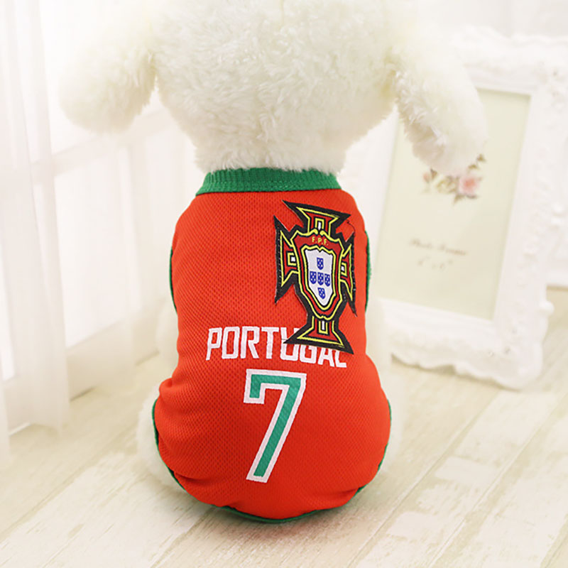 127f3241d Sports Dog Vest Cat Shirt Pet Clothing Summer Cotton Sweatshirt Football  Jersey Dog Clothes For Small Medium Large Dogs XS 6XL-in Dog Coats & Jackets  from ...