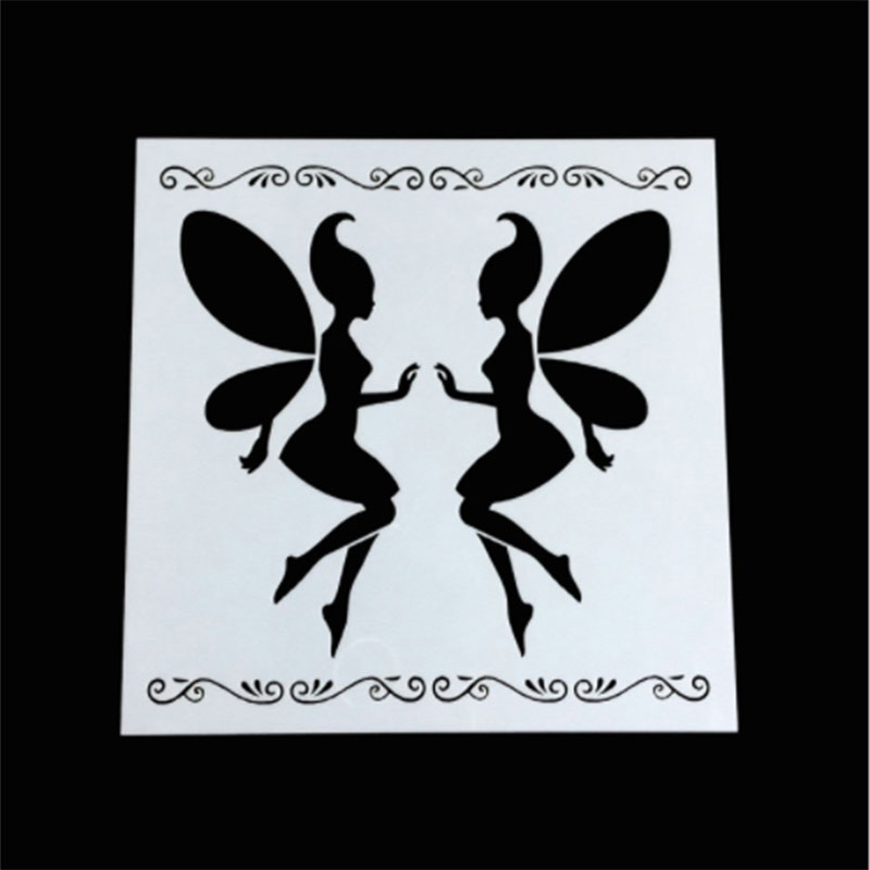 1PC Magic Fairy Angel Shaped Reusable Stencil Airbrush Painting Art DIY Home Decor Scrap Booking Album Crafts