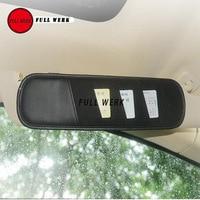 Car Vehicle Sun Visor Multifuntion PU Card Holder Clip Organizer Hanging Bag Pocket for Tesla Model S Auto Tidying Accessories