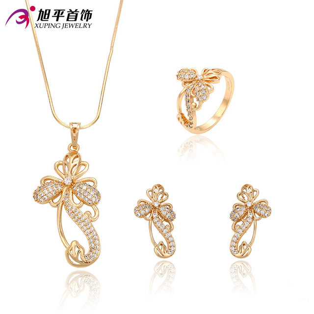 Xuping Fashion Set Special Design Charm for Girl Women18K Gold Color Plated High Quality Imitation Jewelry Sets Promotion 63227