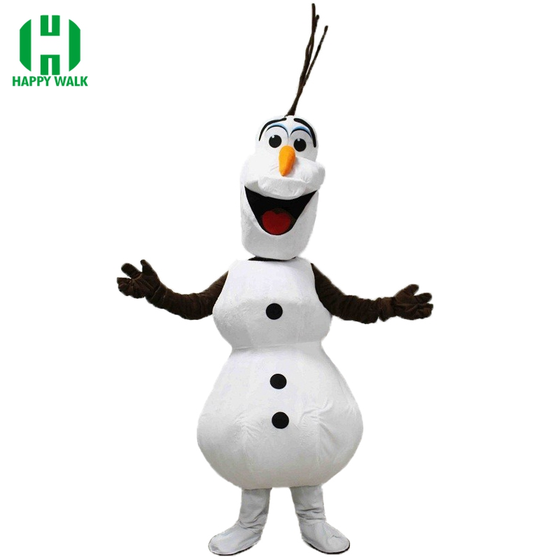 High Quality Party Smiling Olaf Mascot Costume Snowman Adult New Olaf Mascot Costume  Fancy Dress Clothing Christmas Party Suit