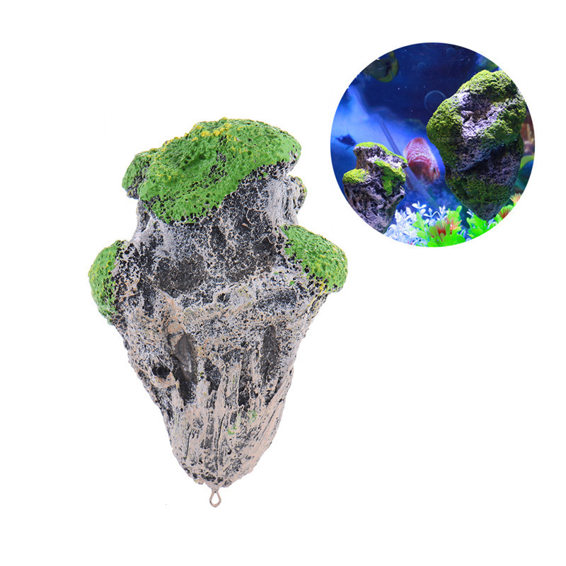 Aquarium Decoration Floating Pumice Suspended Stone Artificial Fish Tank acuarios Moss flying Rock aquatic ornament Landscape