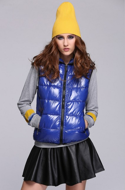 Drop shipping 2014 Spring Thickening Outerwear Hooded Patterns Fashionable Casual Cotton Women Vest Jacket Vest 24